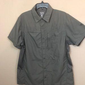 Mountain Hardwear fishing shirt medium gray